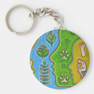 Vegan thinker key ring