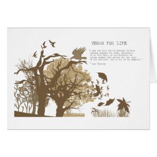 Vegan - Tolstoy quote Card