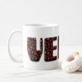 Vegan Typography Strawberry Fruit Strawberries Coffee Mug
