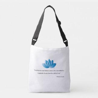 Vegan, Veganism, Mahatma Gandhi Quote Crossbody Bag