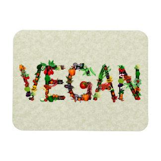 Vegan Vegetables Rectangular Photo Magnet