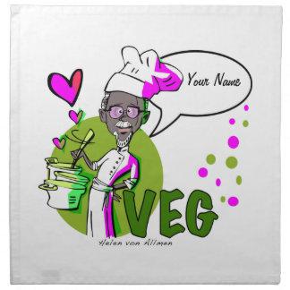 Vegan/vegetarian chef napkin