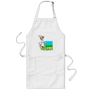vegan-vegetarian cook long apron