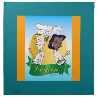 Vegan/vegetarian couple chef napkin