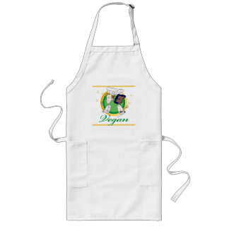 vegan-vegetarian couple cook long apron