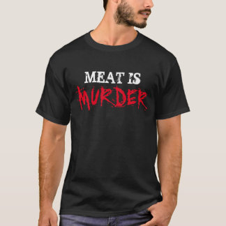 Vegan Vegetarian Shirt MEAT IS MURDER Tee