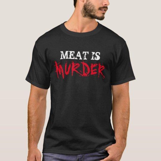 Vegan Vegetarian Shirt MEAT IS MURDER Tee