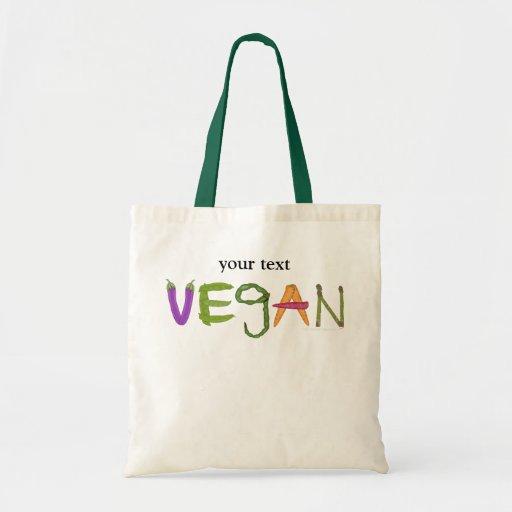 Vegan Veggies Vegetable Lovers Tote Bag