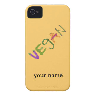 Vegan Veggies Vegetable Lovers Custom Name iphone iPhone 4 Case-Mate Cases