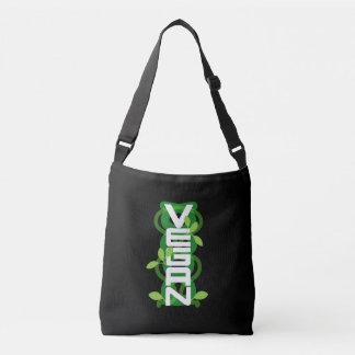 Vegan Vertical Tote Bag White Font