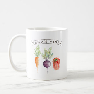 Vegan Vibes   Veggie Patch Watercolor Coffee Mug