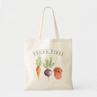 Vegan Vibes | Veggie Patch Watercolor Tote Bag