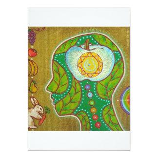 vegan will chakra 13 cm x 18 cm invitation card