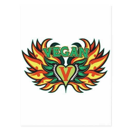 Vegan Wings Postcard