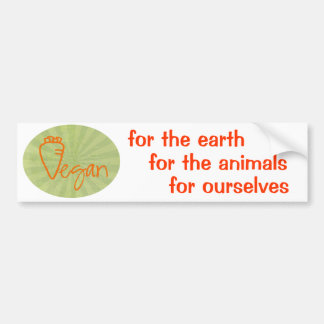 Vegan (with Carrot Graphic) Bumper Sticker