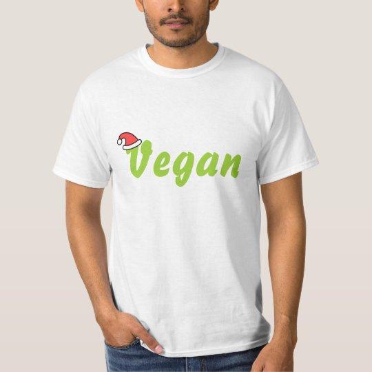 Vegan with Christmas Hat. T-Shirt