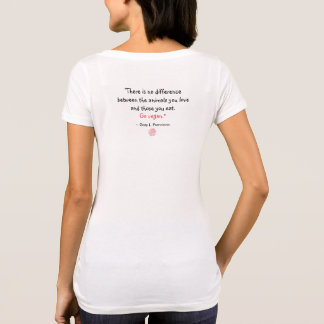 """Vegan"" Word-Cloud Mosaic Circle & Quote (pinks) T-Shirt"