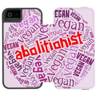 """""""Vegan"""" Word-Cloud Mosaic iPhone 5/5s Wallet Case Incipio Watson™ iPhone 5 Wallet Case"""