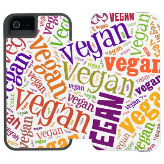 """Vegan"" Word-Cloud Mosaic iPhone 6 Wallet Case Incipio Watson™ iPhone 5 Wallet Case"