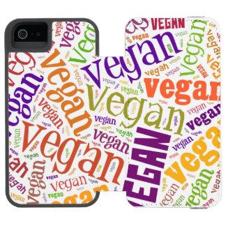 """Vegan"" Word-Cloud Mosaic iPhone 6 Wallet Case Incipio Watson™ iPhone 5 Wallet Case"
