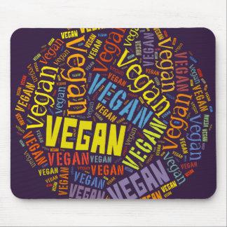 """""""Vegan"""" Word-Cloud Mosaic Mouse Mat"""