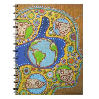 Vegan world notebook