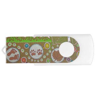 Vegan world swivel USB 2.0 flash drive