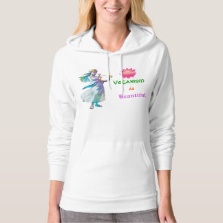 ~ Veganism is Beautiful.~ 100% Cotton Hoodie