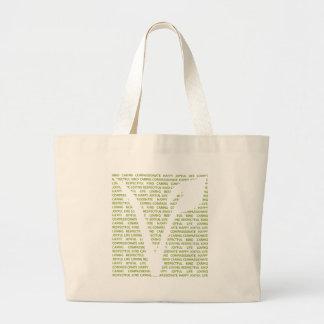 Vegans are large tote bag
