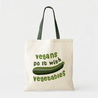 Vegans Do It with Vegetables Budget Tote Bag