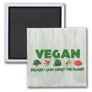 Vegans for the Planet Refrigerator Magnet