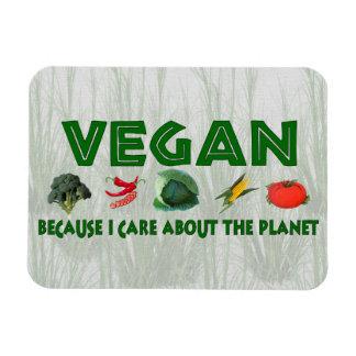 Vegans for the Planet Rectangle Magnet