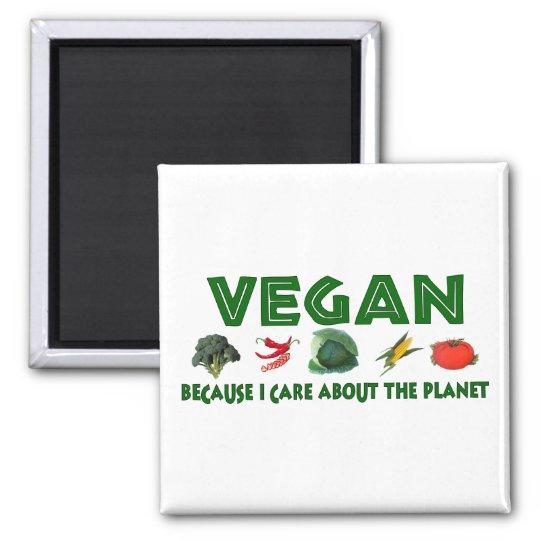 Vegans For The Planet Square Magnet