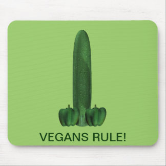 Vegans Rule! Mouse Mat