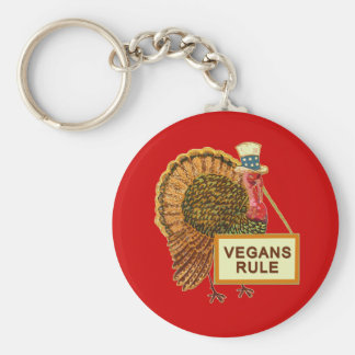 Vegans Rule Turkey Humor for Thanksgiving Key Chain