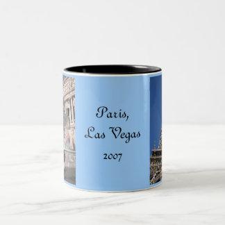 vegas 190, vegas 191, Paris,Las Vegas2007 Two-Tone Mug