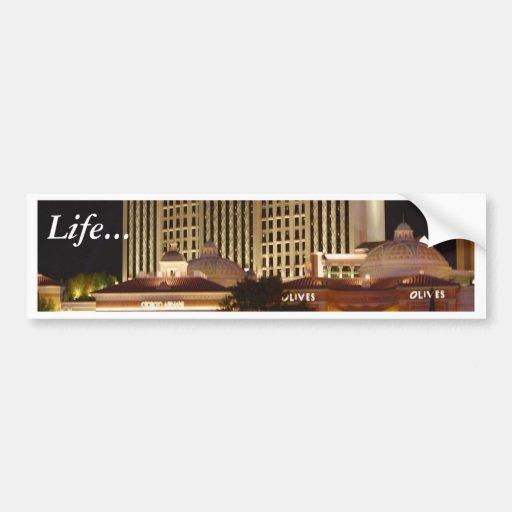 Vegas At Night Bumper Sticker