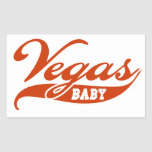 Vegas Baby Rectangular Sticker
