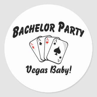 Vegas Bachelor Party Round Sticker