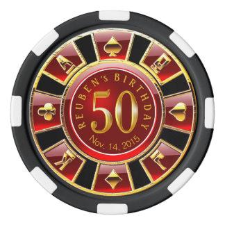 Vegas Casino Chip Red & Black