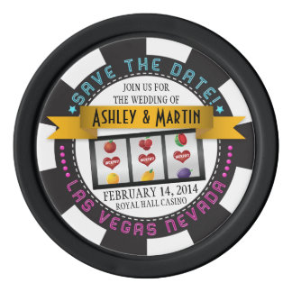 Vegas Casino Destination Wedding Save the Date Poker Chips