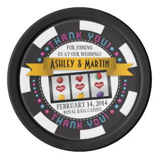 Vegas Casino Destination Wedding Thank You Favor Poker Chips