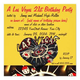 Casino Theme Party Invitations