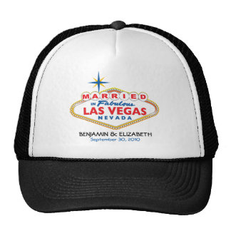 Vegas Destination Wedding Commemorative Hat