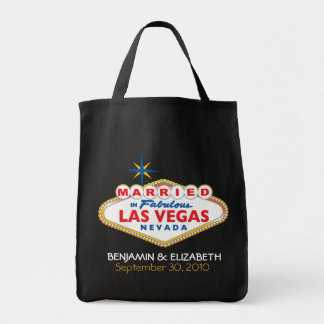 Vegas Destination Wedding Commemorative Tote Grocery Tote Bag