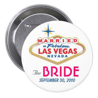 Vegas Destination Wedding THE BRIDE button