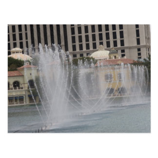 VEGAS Fountain Photography: Resorts Canals Casino Postcard