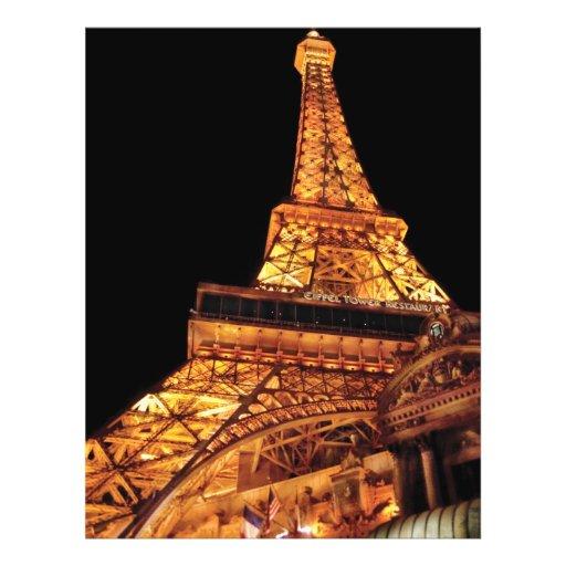 Vegas - Paris - Eiffel Tower Restaurant 21.5 Cm X 28 Cm Flyer