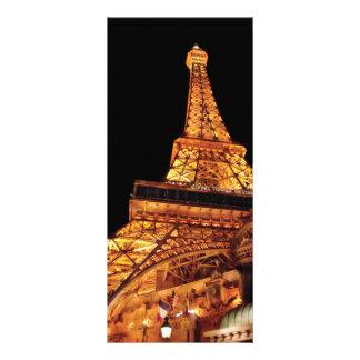 Vegas - Paris - Eiffel Tower Restaurant Customized Rack Card