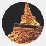 Vegas - Paris - Eiffel Tower Restaurant Round Sticker